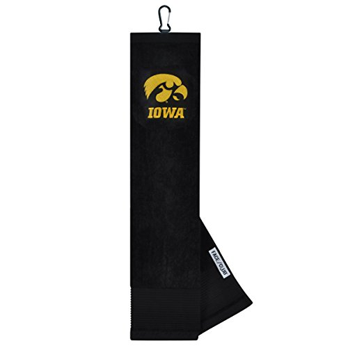 Iowa Hawkeyes Face/Club Embroidered Towel