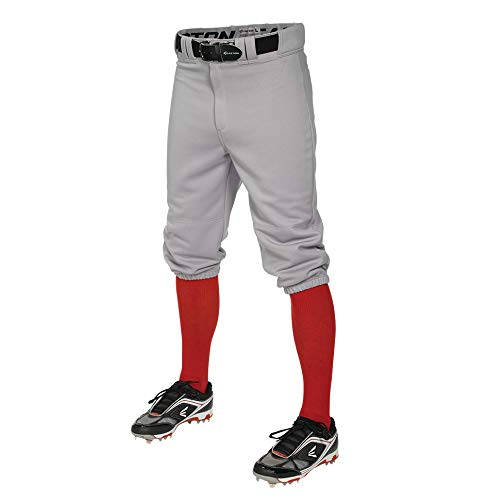 EASTON PRO+ KNICKER Baseball Pant, Adult, Small, Grey