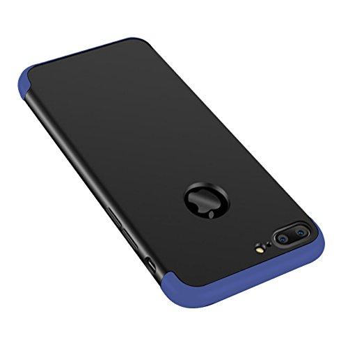 Xeber iPhone 7 Plus Hybird Hard Case Ultra Light Premium Matt Surface for Apple 7 Plus (iPhone 7 Plus, Black+Blue)