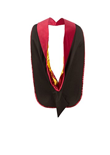American Doctoral Hood (Maroon with Gold - Ga Ga Costumes Lady