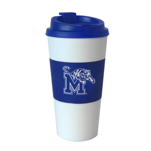 NCAA Memphis Tigers Sleeved Travel Tumbler, 16-Ounce ()