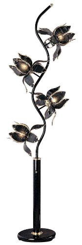 Ore International K-9334KA Flower Floor Lamp, 76