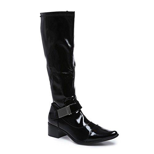 Negro Cocina Uñas Modeuse En botas Color De La Diseño Laca Con Orificio Punta xnZawx71