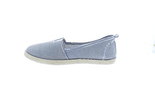 Gold Toe Women's Rani Canvas Alpargatas Espadrille Flat Casual Summer Style Comfy Slip On Walking Shoe Navy 7 US