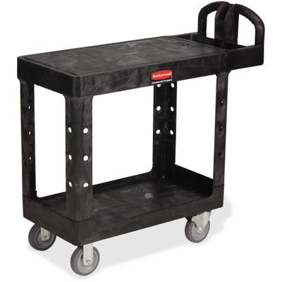 RCP450500BK - Rubbermaid Commercial HD Flat Shelf Utility Cart