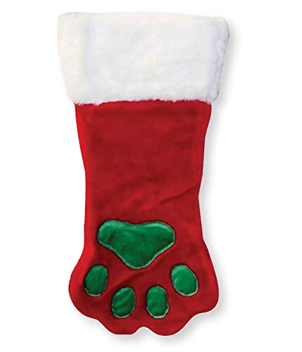 Outward Hound Kyjen  30017 Christmas Paw Dog Stocking Holiday and Christmas Accessories For Dogs, Small, Red, Red