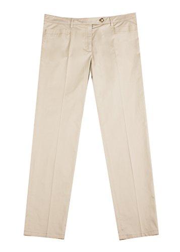 Prada Women's Cotton Chino Trouser Pants Khaki