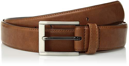 Van Heusen Men's Flex Dress Belt Single Loop, Cognac, Medium