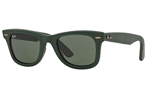 Ray-Ban Unisex RB2140QM 50mm Leather Green
