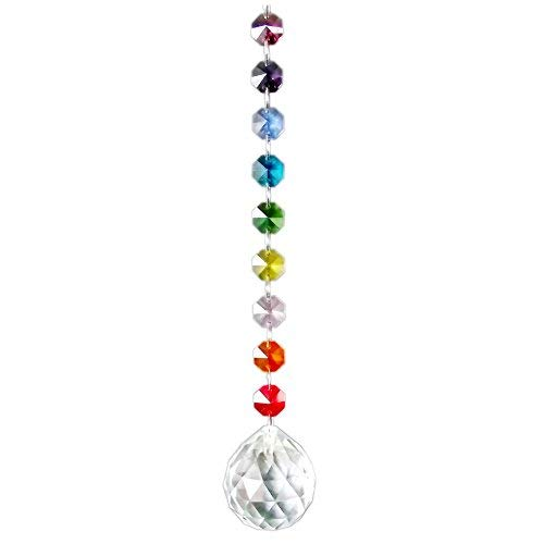 AirSun Crystal Suncatcher 40mm Pendant Sphere, Chakra FengShui Decoration, Rainbow Maker & Window Chandelier Hanging Ornament