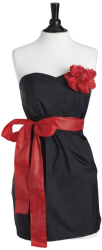 Jessie Steele Bib Strapless Apron, Black with Red Trim (Jessie Steele Salon Apron compare prices)