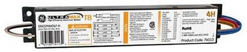 GE Lighting 74113 GE432MAX347-H 347-Volt UltraMax Electronic Fluorescent T8 Multi-Volt Instant Start Ballast 4 F32T8 Lamps