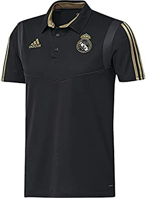 adidas Real Madrid Camiseta Polo, Unisex Adulto, Negro ...