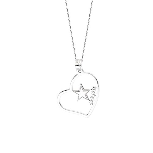 Dallas Cowboys Necklace Licensed NFL Team Heart Pendant Sterling Silver