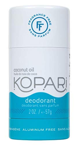 Kopari Aluminum-Free Deodorant Fragrance Free for Sensitive Skin | Non-Toxic, Paraben Free, Gluten Free & Cruelty Free Men's and Women's Deodorant | Made with Organic Coconut Oil | 2.0 oz
