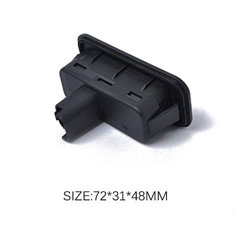 Car Back-up Switch Boot Tailgate Trunk Release Switch 8200076256 for Renault Clio Megane Captur Kangoo Black Luggage Switch