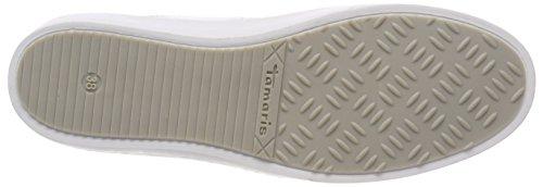 white Comb 23731 Femme Tamaris Basses Sneakers Blanc TnOwXR7q