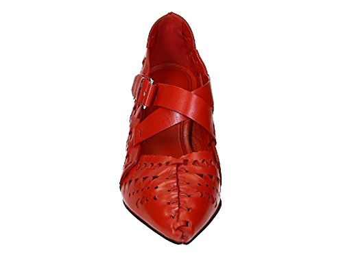 Céline Block Heels Pumps in red Calf Leather - Model Number: 318803CANC 27ED Red ygx2ctkm