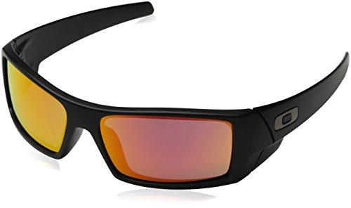 Ruby Iridium Lens (Oakley Men's GasCan Sunglasses,Matte Black Frame/Ruby Iridium Iridium)