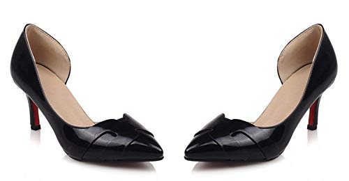Elégant Heel Soirée Noir Aiguille Easemax Kitten Escarpins Talon D'Orsay Femme 6n5BAqAaF