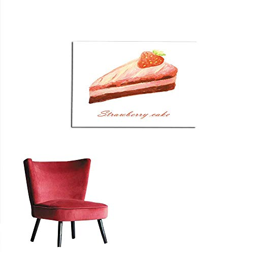 All of better Wallpaper Watercolor Strawberry Cake Mural 24