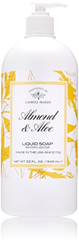 (Caswell-Massey Almond and Aloe Liquid Soap – Natural Hand Wash, Made in the USA – 32 oz.)