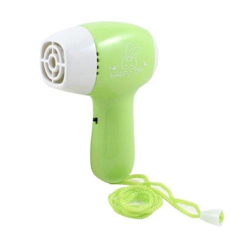 Green Plastic Housing Travel Hair Dryer Shaped Mini Cooling Fan