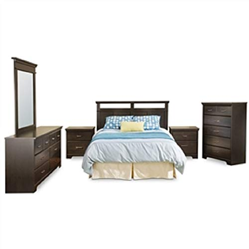 - Triple Dresser in Ebony Wood Finish 6 Drawers Metal Handles Table Nightstand End Storage Bedside MyEasyShopping