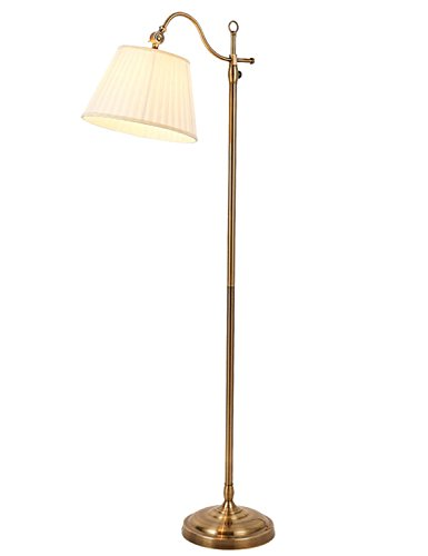 HuaXinV LED Floor Lamp- Modern with Hanging Shade & Heavy Base - Industrial Uplight Downlight with Ambient Lighting for Living Room and Bedroom - Arc Rotating arm with Brass Sofa Light by HuaXinV