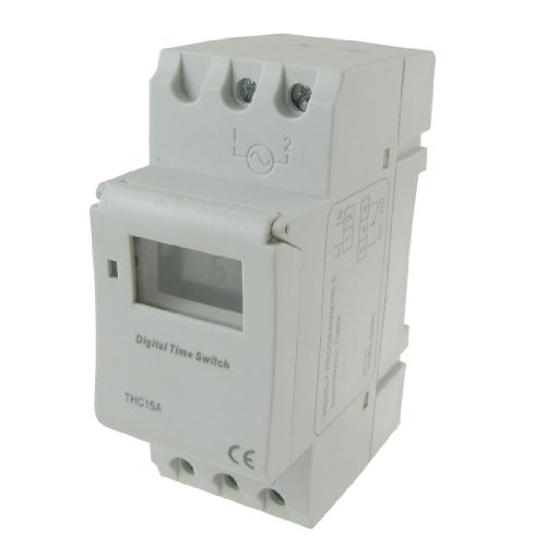 Uxcell a12032600ux1481 Â DIN Rail Mounting Weekly Programmable Electronic Timer THC15A AC - Timer Din