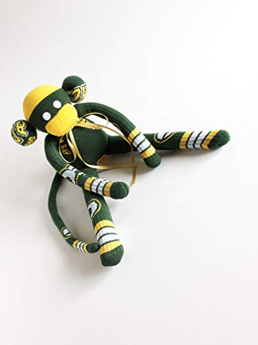 (Green Bay Packers Themed Sock Monkey - NFL - Wisconsin - National Football League - Green Sock Monkey - Packer Sock Monkey - Packer Monkey)