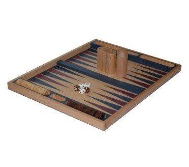 Non-folding Backgammon Set, Blue, 19 by CHH