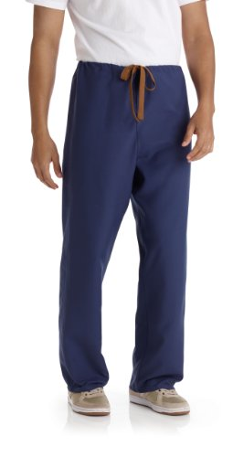 Medline PerforMAX Unisex Reversible Drawstring Scrub Pant, MDL-CM, X-Small, Navy