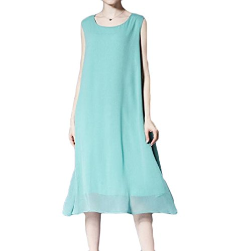 Tunic Dress Plus Coolred Green Elegant Pea Size Pendulum Women Solid Chiffon Big Party RqxgvESxw