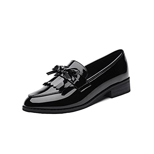 06ddf60e0bf LAIKAJINDUN Women s Low Top Walking Shoes Leather Tassels Loafer Flats  outlet