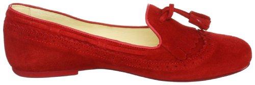 Jonnys Janette J-17081, Damen Ballerinas aus Velourleder Rot (rojo)