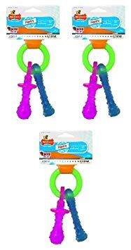 - Nylabone Just for Puppies Extra Small Pacifier Bone Puppy Dog Teething Chew Toy (3 Pack)