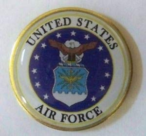 Handsome Enamel Lapel pins - US Air Force Insignia Lapel pin, Proudly Made in America - Unique Pins and Brooches ()
