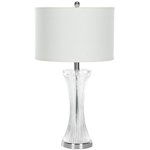 - Safavieh Lighting Collection Zelda Glass 25-inch Table Lamp