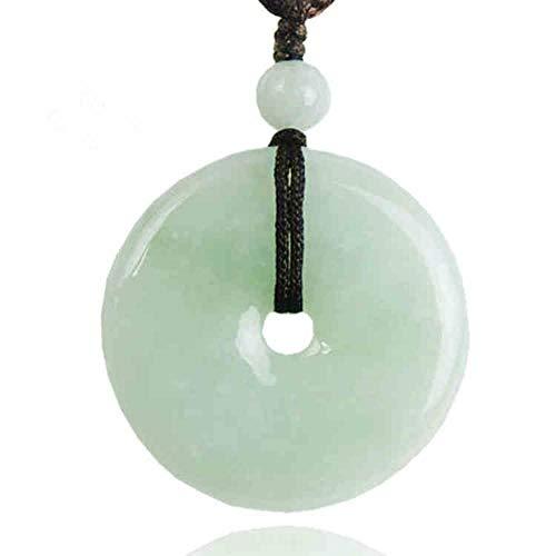 Zhiming Emerald Green Buckle Floating Circular Pendant