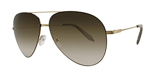 Victoria Beckham Women's Classic Victoria Feather Light Aviator Sunglasses, Gold/Brown, One ()