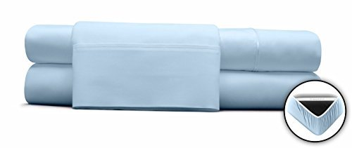 DreamFit BAMBOO DEGREE 5 BLUE SPLIT KING SHEET SET
