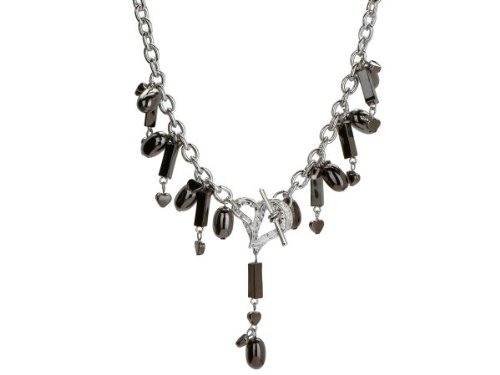 Michele Caruso Black Metallic Bead and Heart Necklace ( Case of 12 )