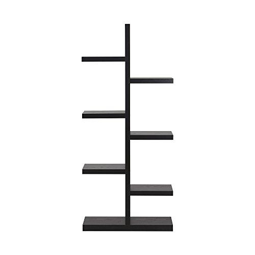 Homestar 7-Shelf Bookcase in Espresso For Sale