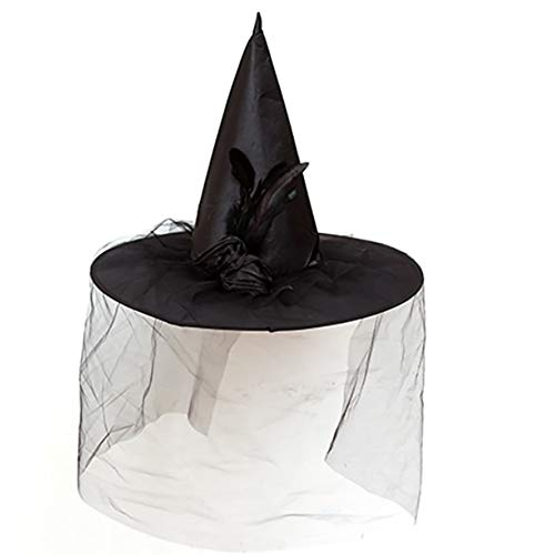 NACOLA Halloween Christmas Purple/White Women Witch Hat for Costume Accessory Scary Party Decoration -