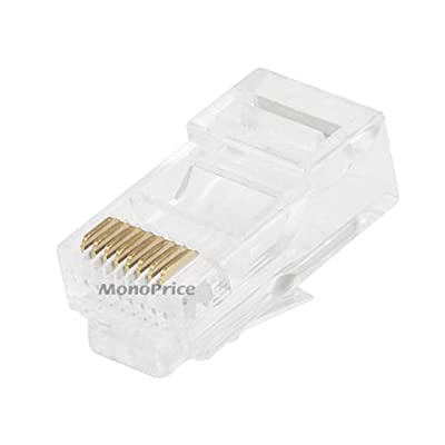 Monoprice RJ-45 Modular Plugs RJ45, 100 Pack For Stranded Cable (107246)
