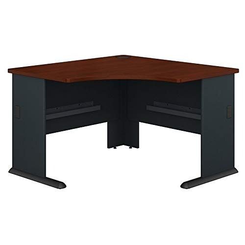 Bush Business Furniture Office Advantage Corner Desk 48''W, Hansen Cherry/Galaxy, Standard Delivery