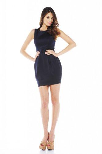 AX Paris Balloon Skirt Scuba Dress(Navy, Size:8) (Balloon Skirt Dress)