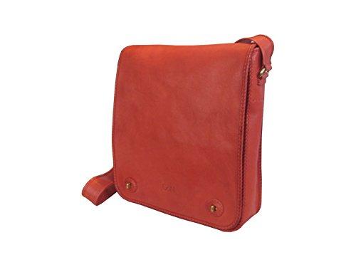 Vertical Laptop Bag, Vertical Leather Messenger Bag, Leather Briefcase, 13