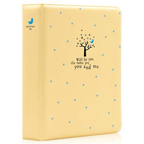 Ablus 64 Pockets Mini Photo Album for Fujifilm Instax Mini 7s 8 8+ 9 25 26 50s 70 90 Instant Camera & Name Card (Tree/Yellow)